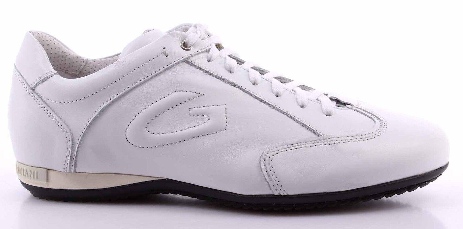Scarpe Scarpe da Ginnastica Uomo ALBERTO GUARDIANI Sport Man Shoes Adler Bianche Pelle Italy