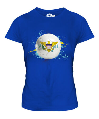 US VIRGIN ISLAND FOOTBALL LADIES T-SHIRT TEE TOP GIFT WORLD CUP SPORT