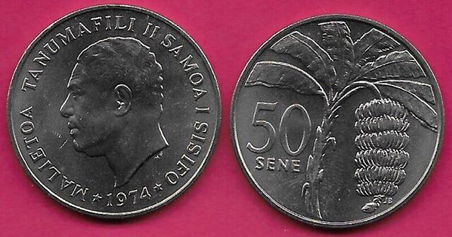Coin Sets of All Nations W Samoa UNC 1,2,5,10,20,50 Sene 1974 Tala 1984