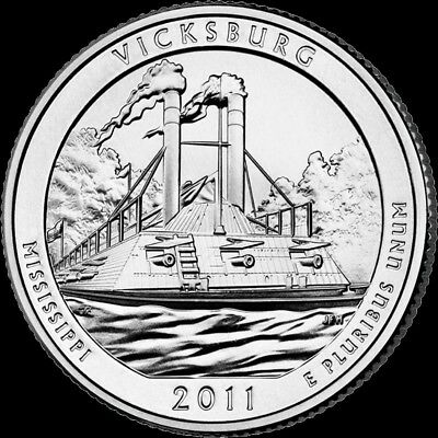 "2011 D Vicksburg National Park Quarter Mississippi /""Brilliant Uncirculated/"" ATB"