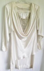 Vintage-White-2-Pc-Cocktail-Dress-Batwing-Sleeves-Fleur-de-Paris-Draped-1980s