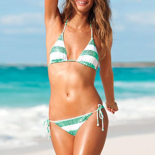 Women Swimwear Push-up Padded Bra Bandage Bikini Swimsuit Triangle Bathing Suit