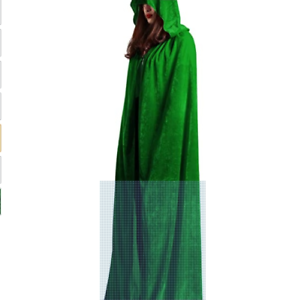 Details about  /new long velour cape princess renaissance medieval  mother earth kelly green