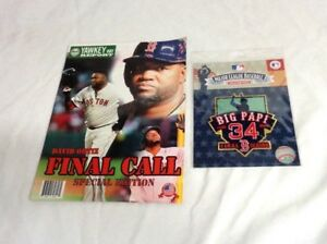 2c90dad0e October 2016 Yawkey Way Report Red Sox Program David Ortiz Patch Lot ...
