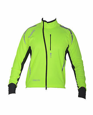 Zimco Pro Bike Jacket Cycling High Viz Jacket Winter Soft Shell Wind Jersey