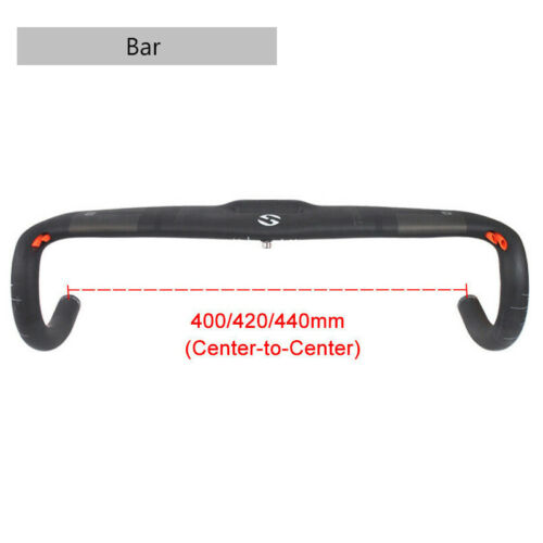 US 31.8 Handlebar Carbon Fiber Road Bike Drop Bar 400//420//440mm Aero Handlebars