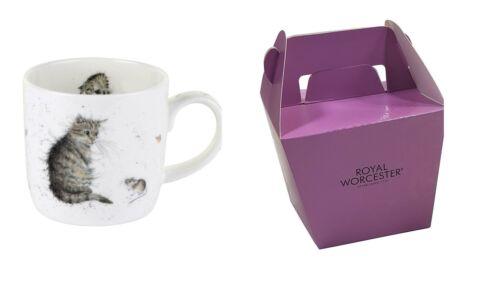 2 X Verpackt Wrendale Offiziell Lizenziert Katze Maus Porzellan Becher Tassen