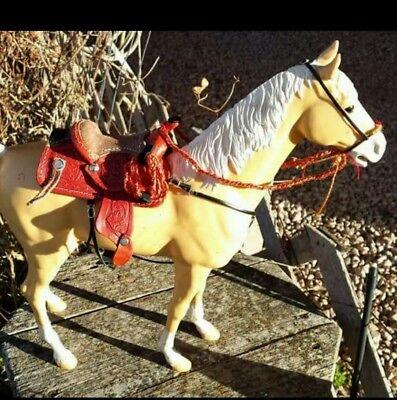 MARX Johnny West  horse custom tooled western  Saddle set