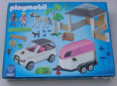 PLAYMOBIL ® 5667 auxécuries avec Chevaux transporteur Nouveau neuf dans sa boîte
