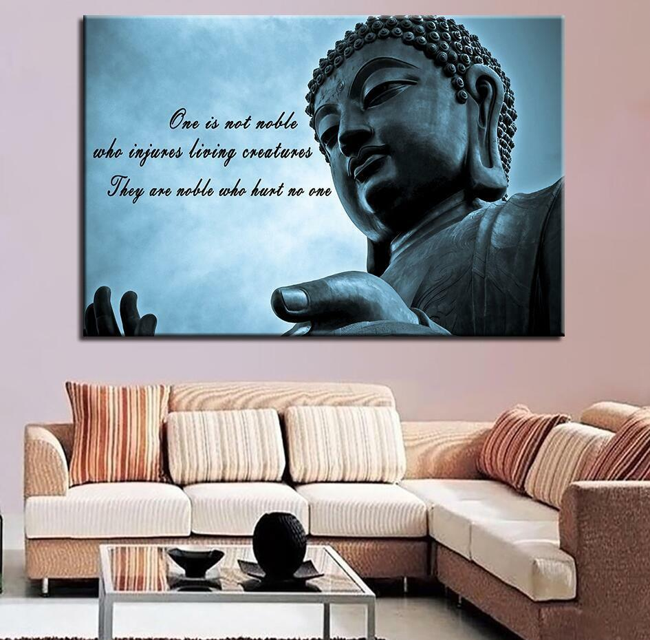 Buddha Famous Quote And Sayings 1 Panel Canvas Print Wall Art