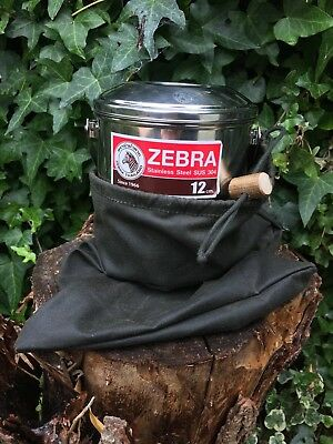 CUSTOM FIT HAND MADE ZEBRA BILLY CAN CARRY SACK ROUND BASE
