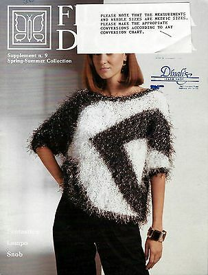 Filatura Di Crosa Knitting Booklet w//8 Patterns for Multi Mohair Yarn