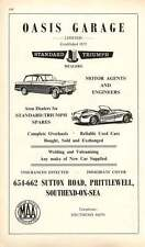 1968 Oasis Garage Ltd Standard Triumph Prittlewell Southend-On-Sea Ad