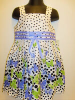 Girls Bonnie Jean Butterfly Purple Polka Dot Summer Dress 2t Outfit