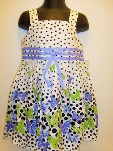d0b348e1cd8 NWT Girls Bonnie Jean Butterfly Purple Polka Dot Summer Dress 2T NEW ...