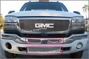 2003-2006-GMC-Sierra-1500-2500-HD-Billet-Grille-Bumper-2Pc-No-cutting
