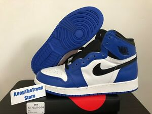 e33ad182a5f4 2018 Nike Air Jordan 1 Retro High OG Game Royal Blue White 555088 ...