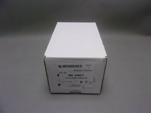 NEW 430C7W Mennekes Connector Watertight 30A 3P 4W ME430C7W