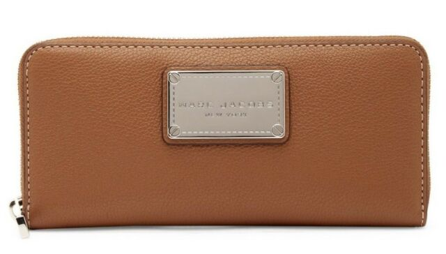 Marc Jacobs Classic Standard Continental Leather Zip Women's Wallet SADDLE