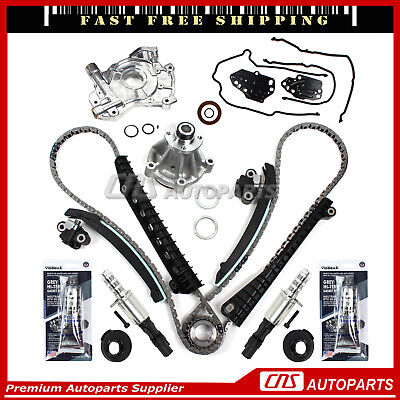 04-08 Ford F-150 5.4L and More Compatible with 05-08 Ford Expedition 5.4L Oil Pump Water Pump Timing Solenoid Valve Triton 3-Valve Engine Timing Chain Kit