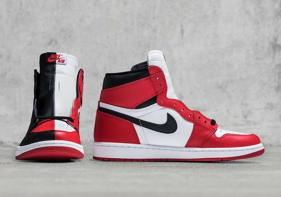 Nike air 1 jordan 1 air retro - hohe og nrg hommage zu hause aus chicago sz 10 08bed5