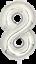 40-034-numero-gigante-foil-aria-elio-Glitz-grandi-PALLONCINI-Festa-Di-Compleanno-Matrimonio miniatura 49