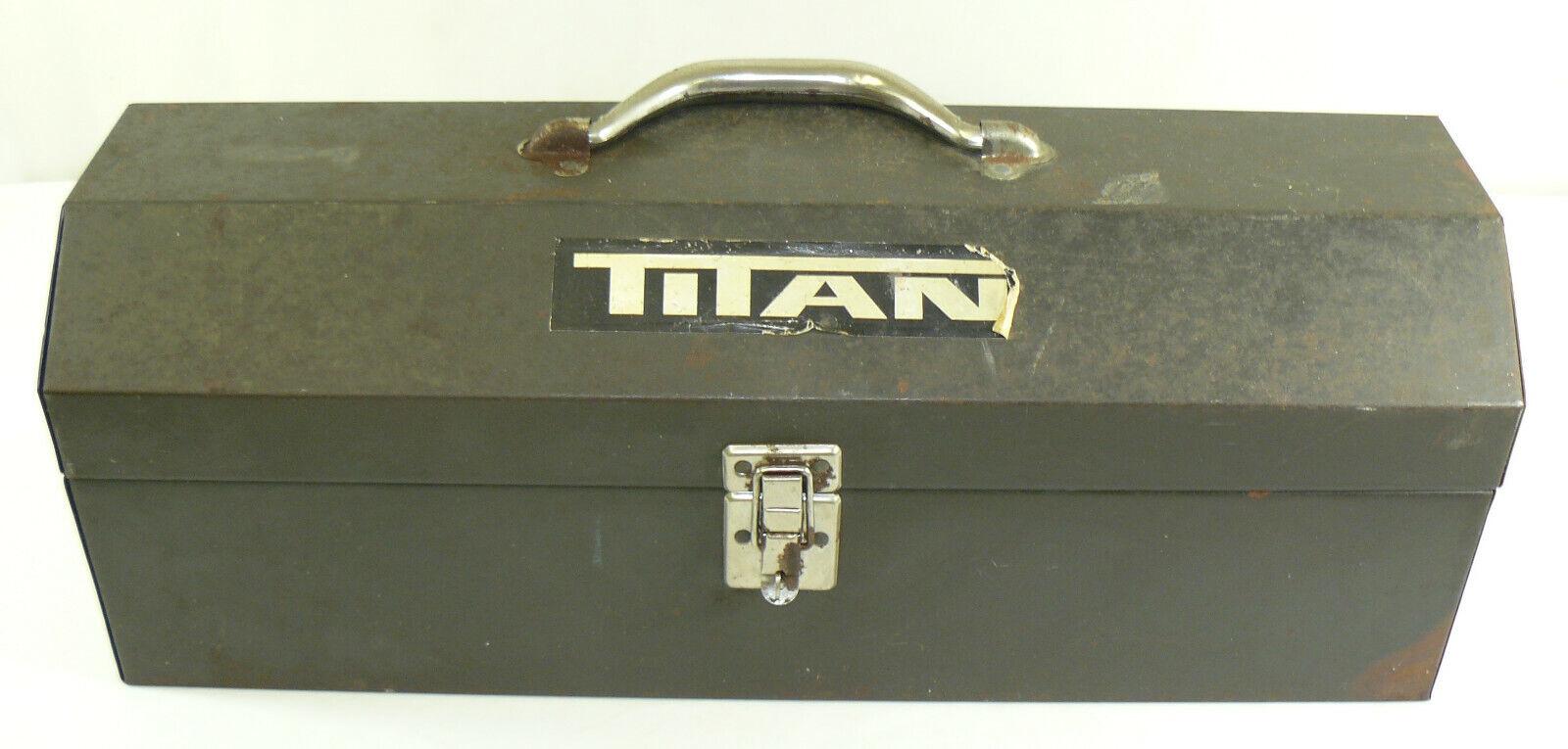 Vintage Titan Heavy Duty Tool Box Storage Case 19