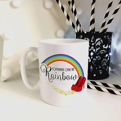 Wizard of Oz Somewhere Over the Rainbow 10 oz White Ceramic Mug