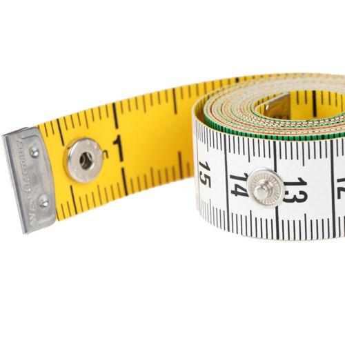 60in Button Tailor Measure Tape Nähwerkzeuge Flachband 150CM Körpermaß YR