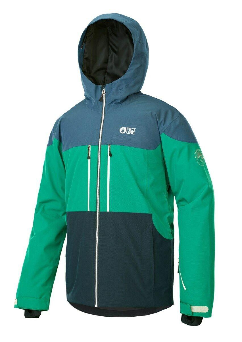 Picture Object Ski Snowboard Jacket, Grün Blau, Large