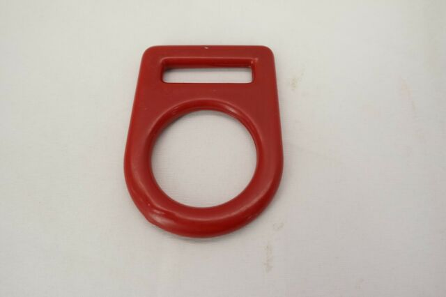 Fusion climb team large carbon steel d ring pvc coated red mbs 23kn