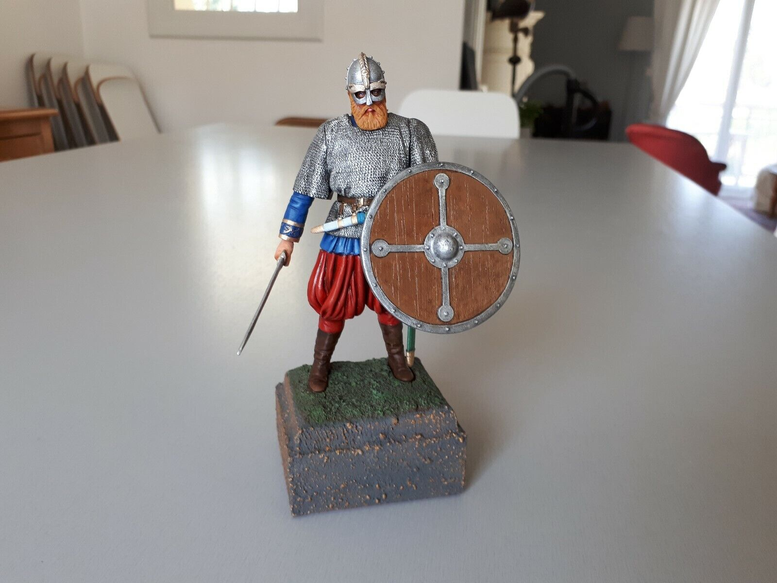 Figurine de guerrier Wiking peint 120 mm (1 16)