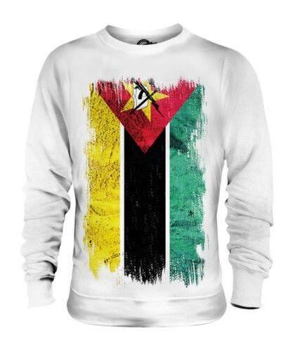 MOZAMBIQUE GRUNGE FLAG UNISEX SWEATER TOP MOÃAMBIQUE FOOTBALL MOZAMBICAN SHIRT