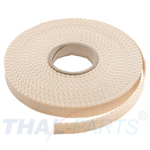 beige Polypropylen Taschengurt 10m Gurtband 15mm Breit ca 1,6mm stark