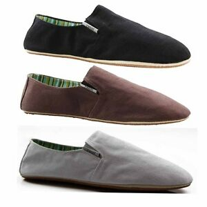 MENS-ZASEL-COTTON-CANVAS-SLIP-ON-FLATS-BLACK-BROWN-WHITE-CASUAL-SNEAKERS-SHOES