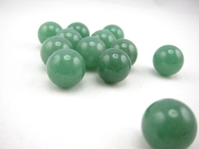 Gemstone Marbles, Aventurine, 10pcs