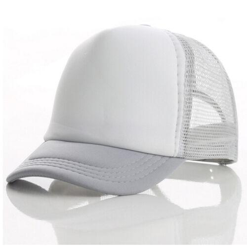 Unisex Kids Summer Plain Trucker Mesh Hat Snapback Blank Baseball Cap Adjustable