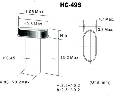 10 pack QRP Ham Radio Crystals HC49//S 14.070MHz