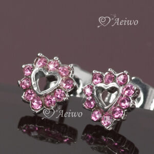 18k-white-gold-gf-made-with-Swarovski-crystal-pink-love-heart-stud-earrings