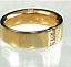thumbnail 3 - Mens Gold Plated Band Ring Chunky Cubic Zirconia  Accent 8,10,11 Fashion Ring