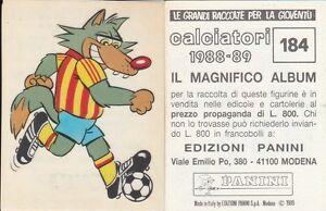 LECCE-MASCOTTE-N-184-ALBUM-FIGURINE-CALCIATORI-PANINI-1988-89-LEGGI