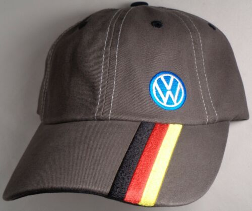 Hat Cap Licensed Volkswagen VW Grey German Stripe CF