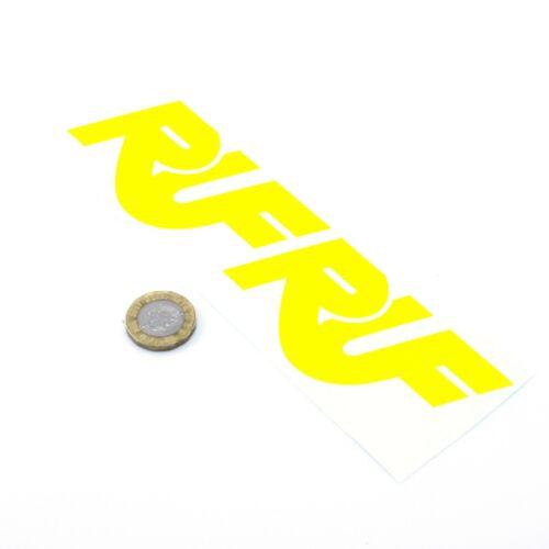 YELLOW RUF Stickers Decal Car Vinyl 100mm x2 CTR BTR Yellowbird