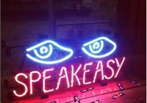 "Speakeasy Eyes 17\""x14\"" Neon Sign Lamp Light Beer Bar With"