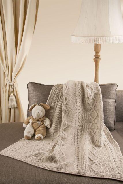 Handmade Striped Style 40 Merino Wool 40 X 40 Throw Blanket Made In Interesting Aran Throw Blanket