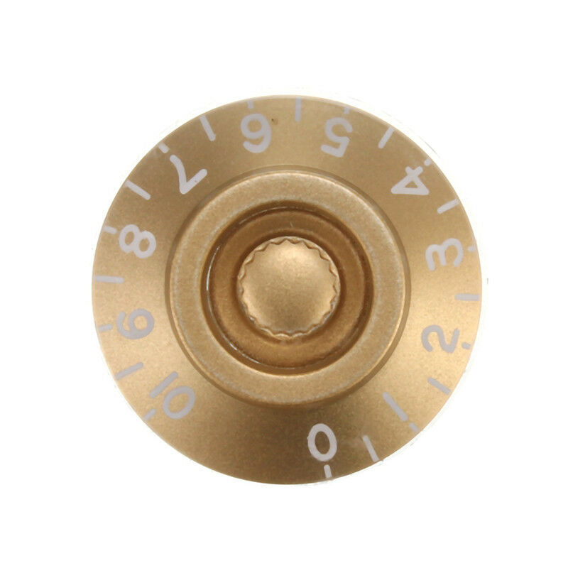 Guitar Volume Tone Control Speed Knobs Gold with White Numbers