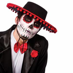 Adult Day of the Dead Senor Halloween Fancy Dress Spanish Hat Scary Evil Costume - eBay