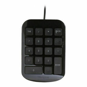 Targus Numeric Keypad with USB Port Connector, Black and Grey (AKP10US)