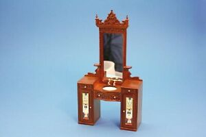 Detailed-Barber-039-s-Washstand-Dolls-House-Miniature-Deluxe-Sink-Unit-Mirror