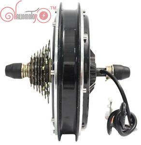 48v 1500w Threaded Ebike Brushless Gearless Rear Hub Motor